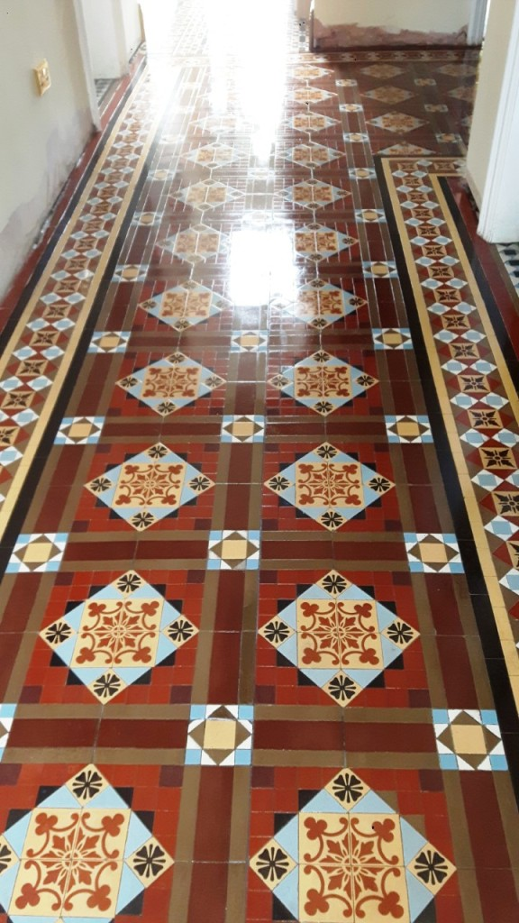 Victorian Tiled Floor After Renovation Warley