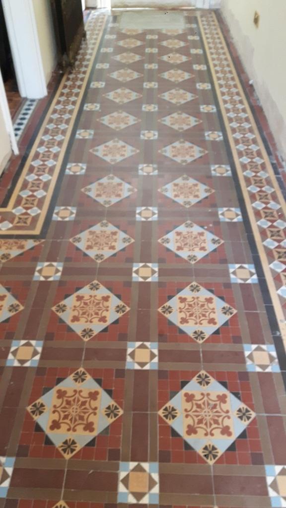Victorian Tiled Floor Before Renovation Warley