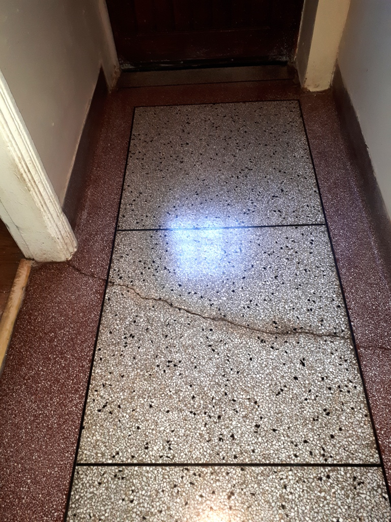Terrazzo Hallway Floor After Cleaning Dudley