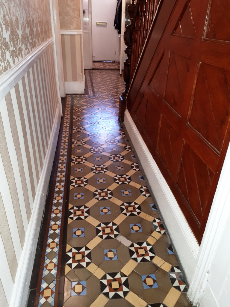 Victorian Tiled Hallway Floor After Cleaning Dudley