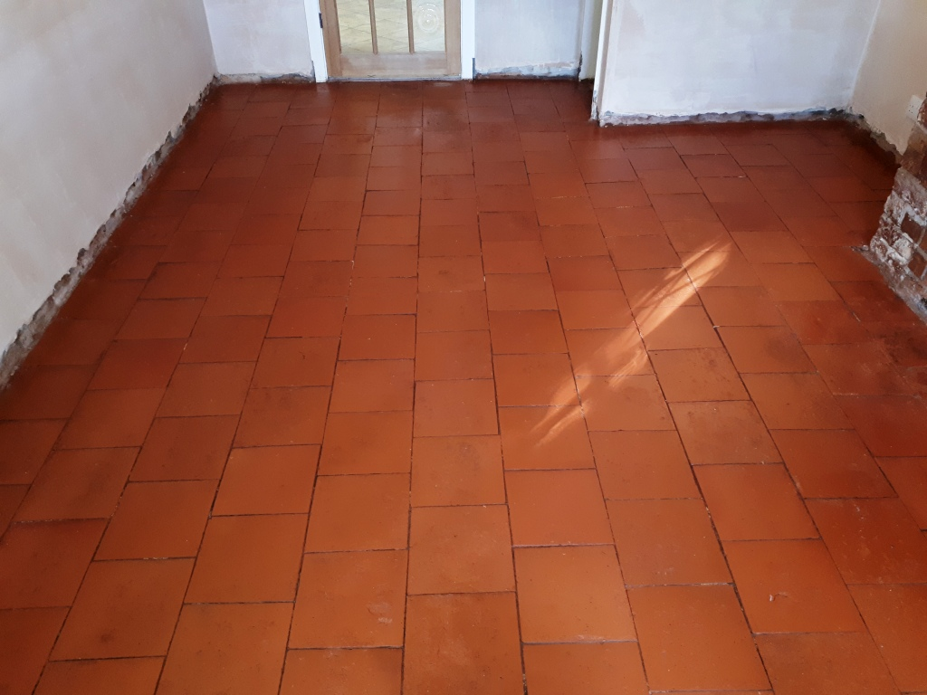 Quarry Tiled Floor After Restoration Rednal