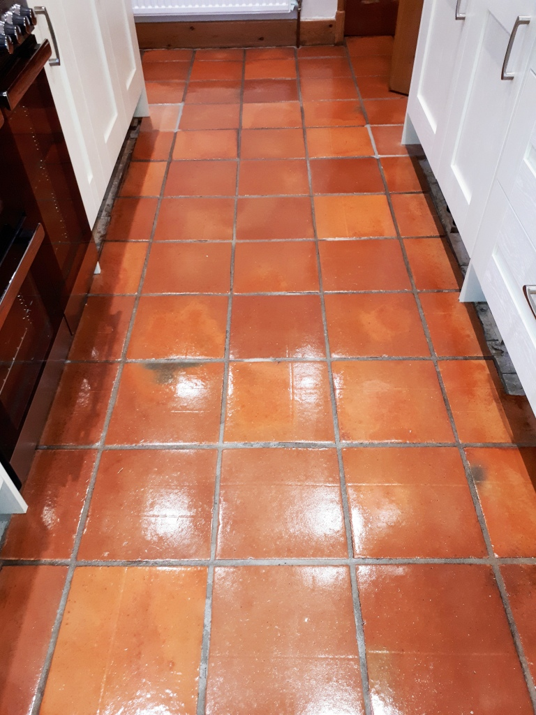 Mexican Terracotta Tiles After Resealing Redditch