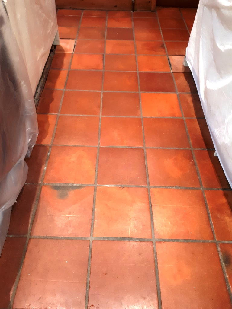 Mexican Terracotta Tiles Before Resealing Redditch