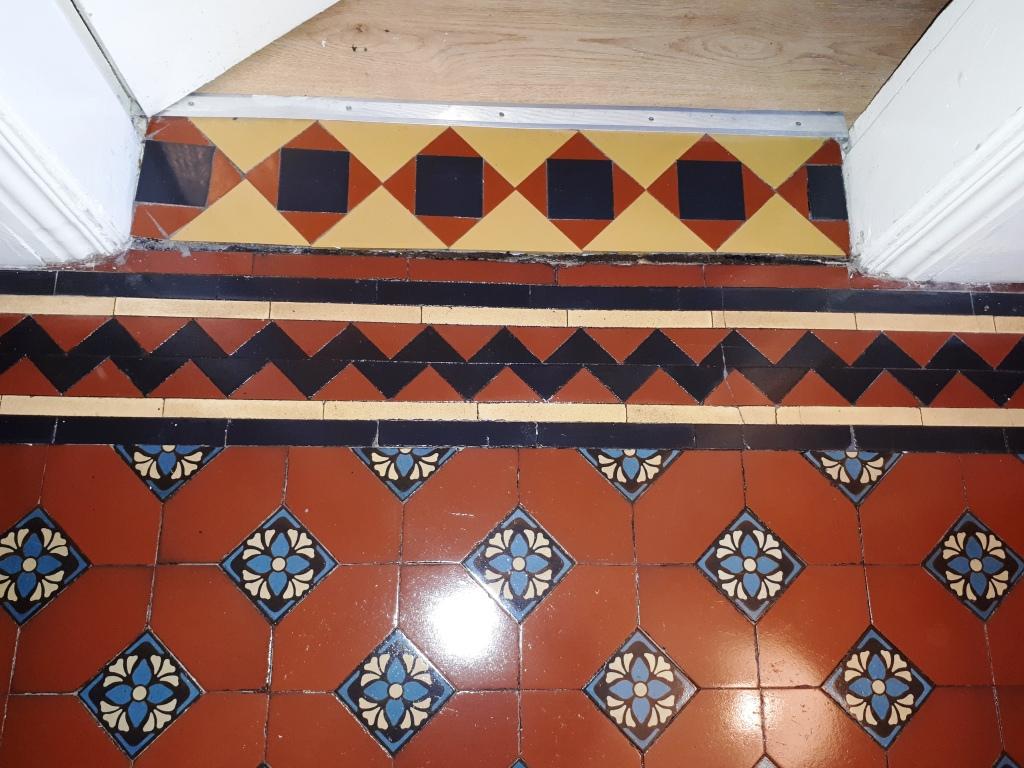 Victorian Tiled Hallway After Restoration Darlaston