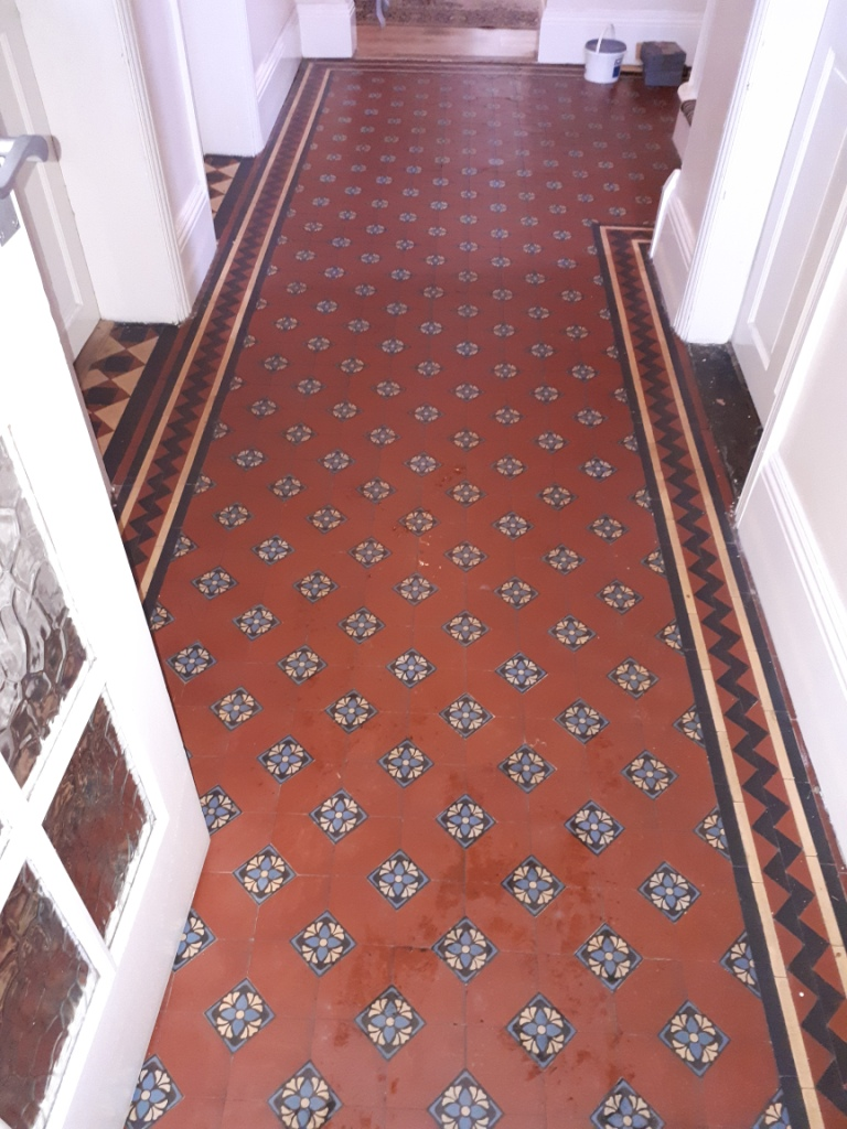 Victorian Tiled Hallway Before Restoration Darlaston