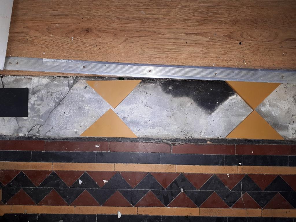 Victorian Tiled Hallway During Repair Darlaston