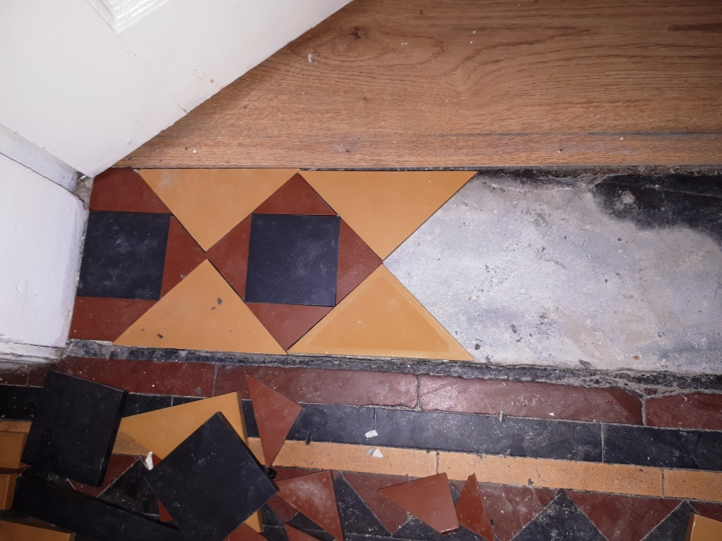 Victorian Tiled Hallway During Repair Darlaston