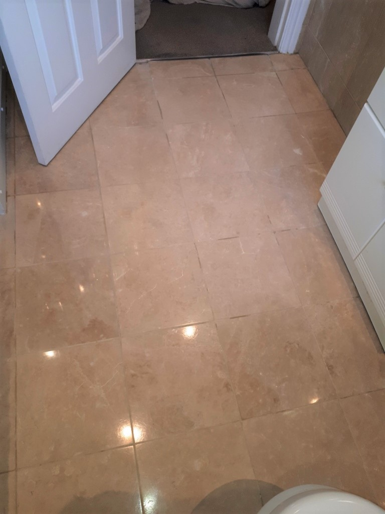 Marble Tiled Bathroom Floor After Cleaning Brownhills Walsall