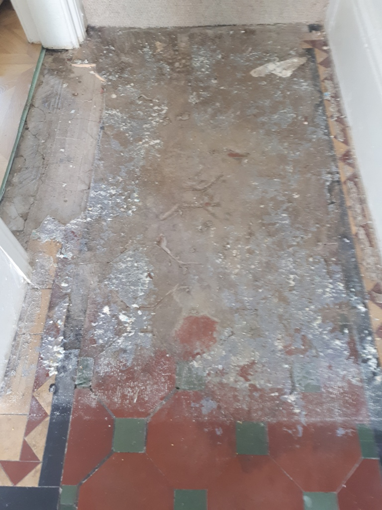 Victorian Hallway Before Restoration Bearwood