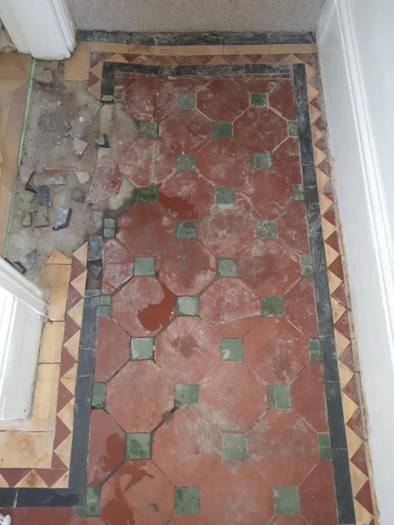 Victorian Hallway During Restoration Bearwood