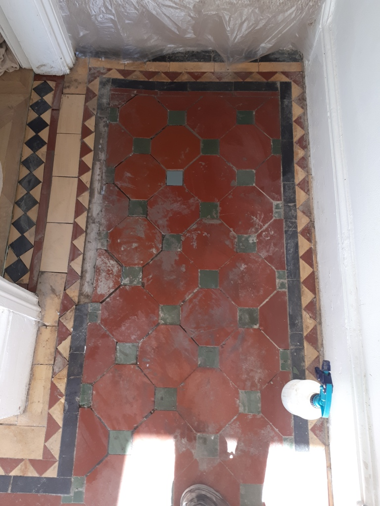 Victorian Hallway During Restoration Bearwood