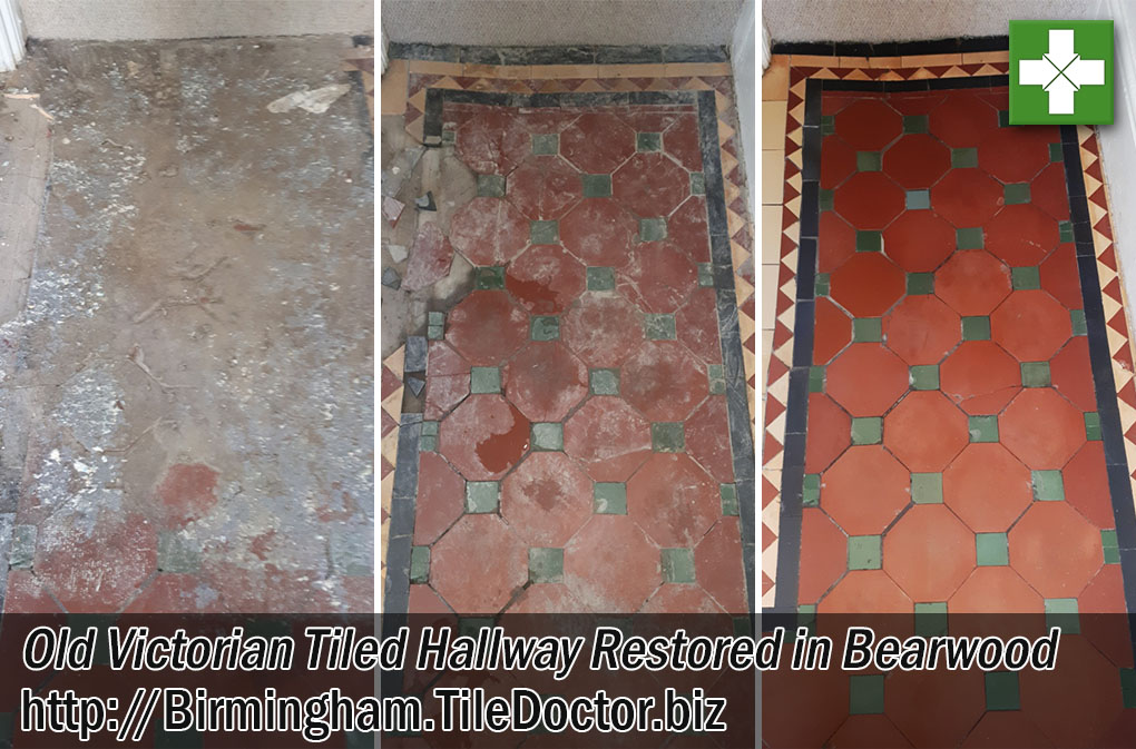 Victorian Tiled Hallway Before and After Renovation Bearwood