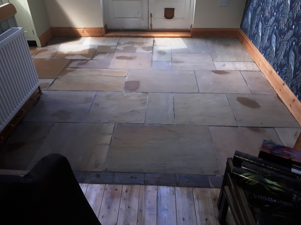 Sandstone Floor After Cleaning Wolverhampton