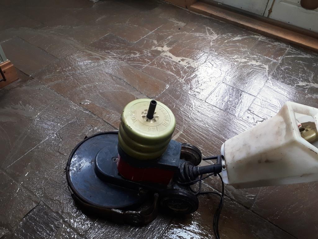 Sandstone Floor During Cleaning Wolverhampton