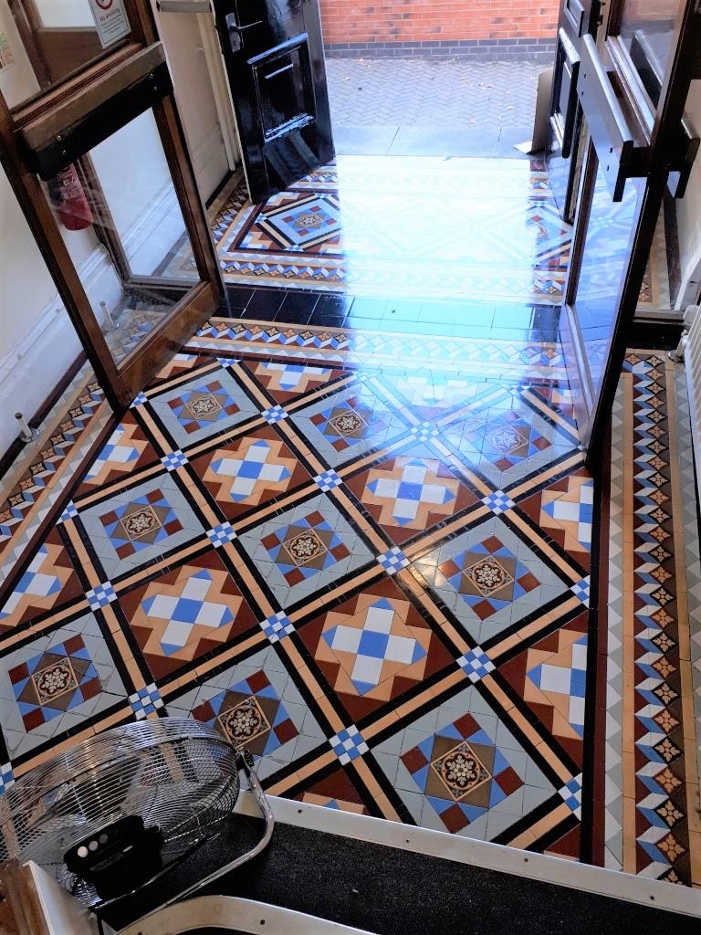 Victorian Tiled Hallway Tipton After Restoration