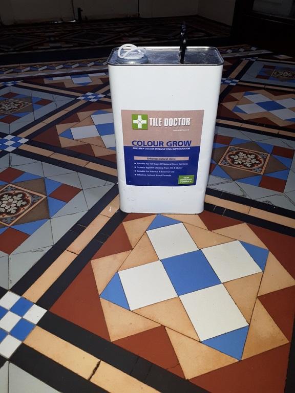 Victorian Tiled Hallway Tipton During Sealing