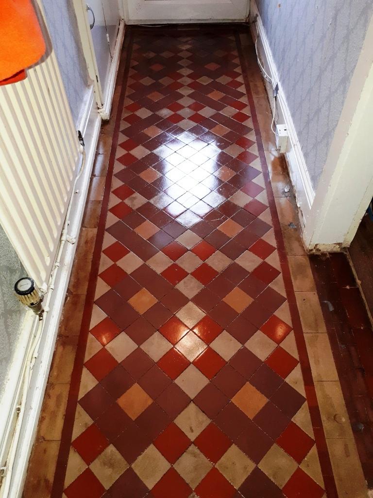 Victorian Tiled Hallway After Restoration Erdington
