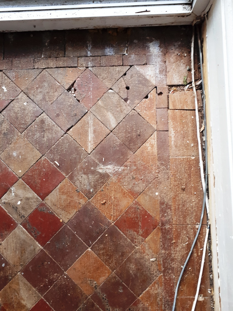Victorian Tiled Hallway Before Restoration Erdington
