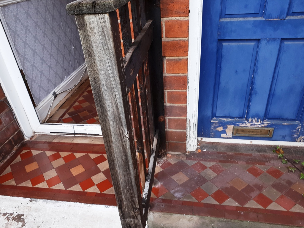 Victorian Tiled Porch After Restoration Erdington