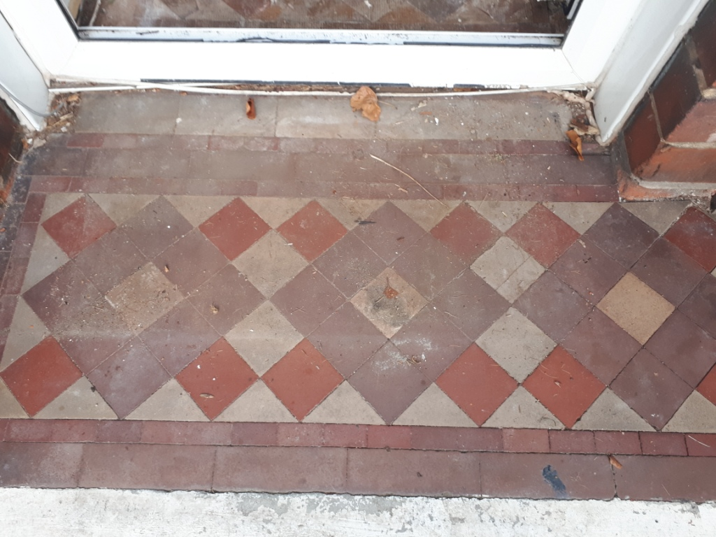 Victorian Tiled Porch Before Restoration Erdington