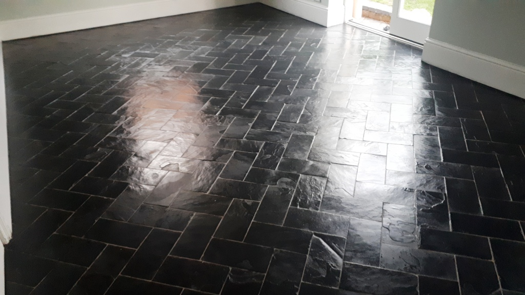 Slate Floor After Sealing Moseley