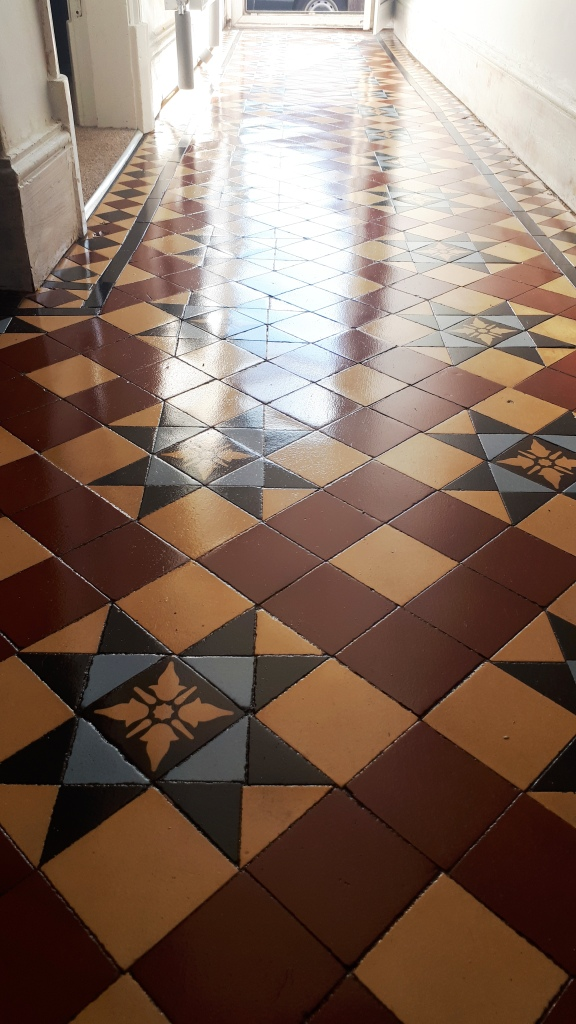 Victorian Tiled Hallway After Restoration Edgbaston