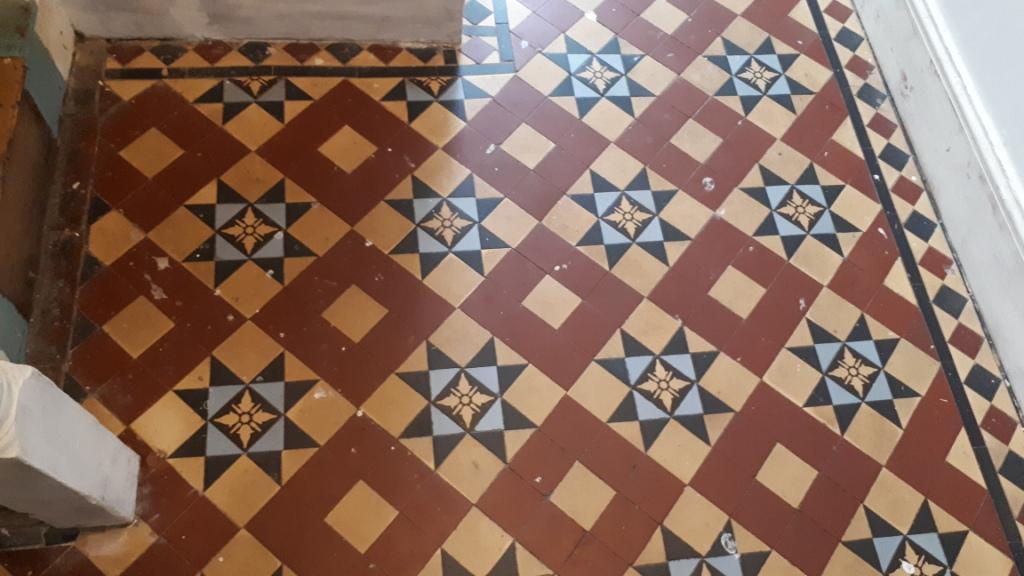 Victorian Tiled Hallway Before Restoration Edgbaston