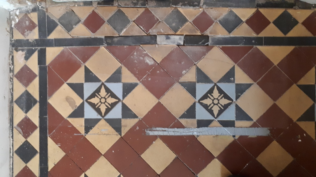 Victorian Tiled Hallway Before Restoration Edgbaston