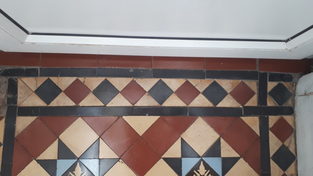 Victorian Tiled Hallway During Repair Edgbaston
