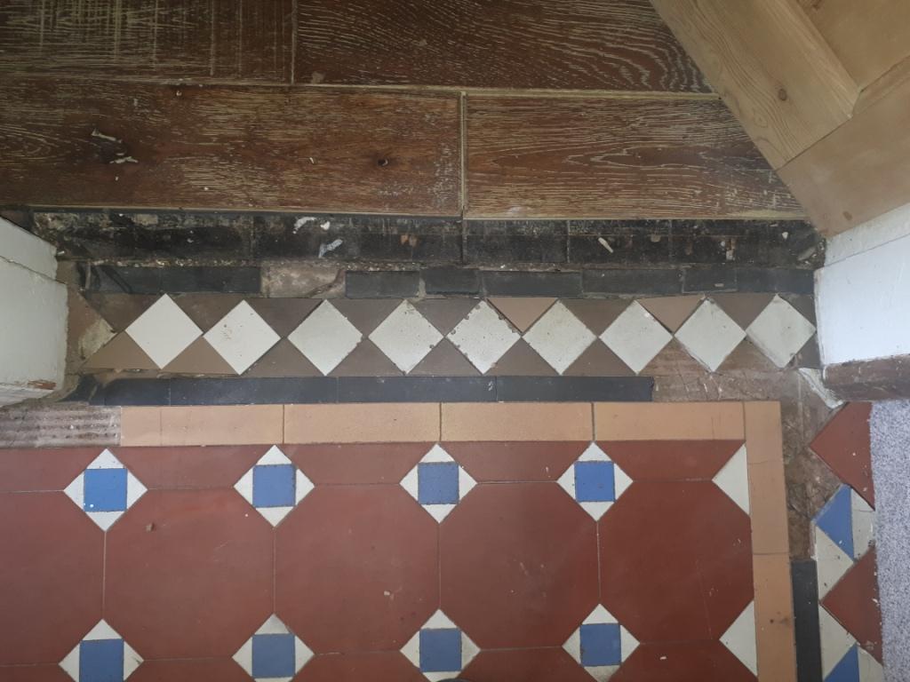 Victorian Hallway Door Threshold Before Tile Replacement Stourbridge