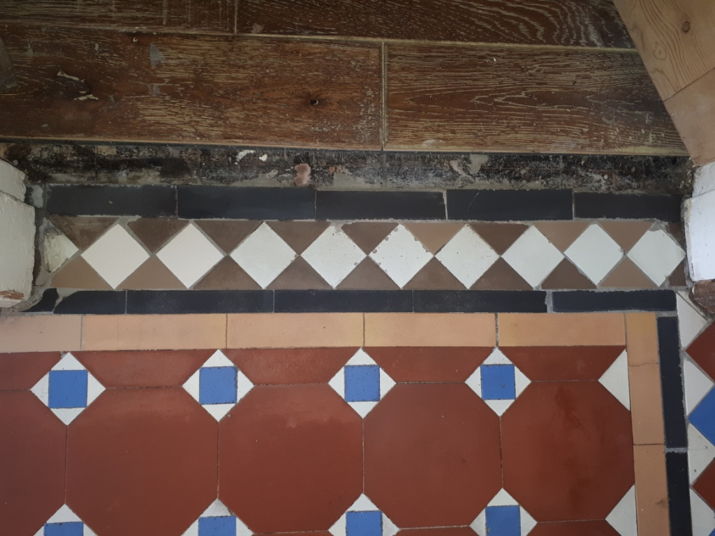 Victorian Hallway Door Threshold During Tile Replacement Stourbridge