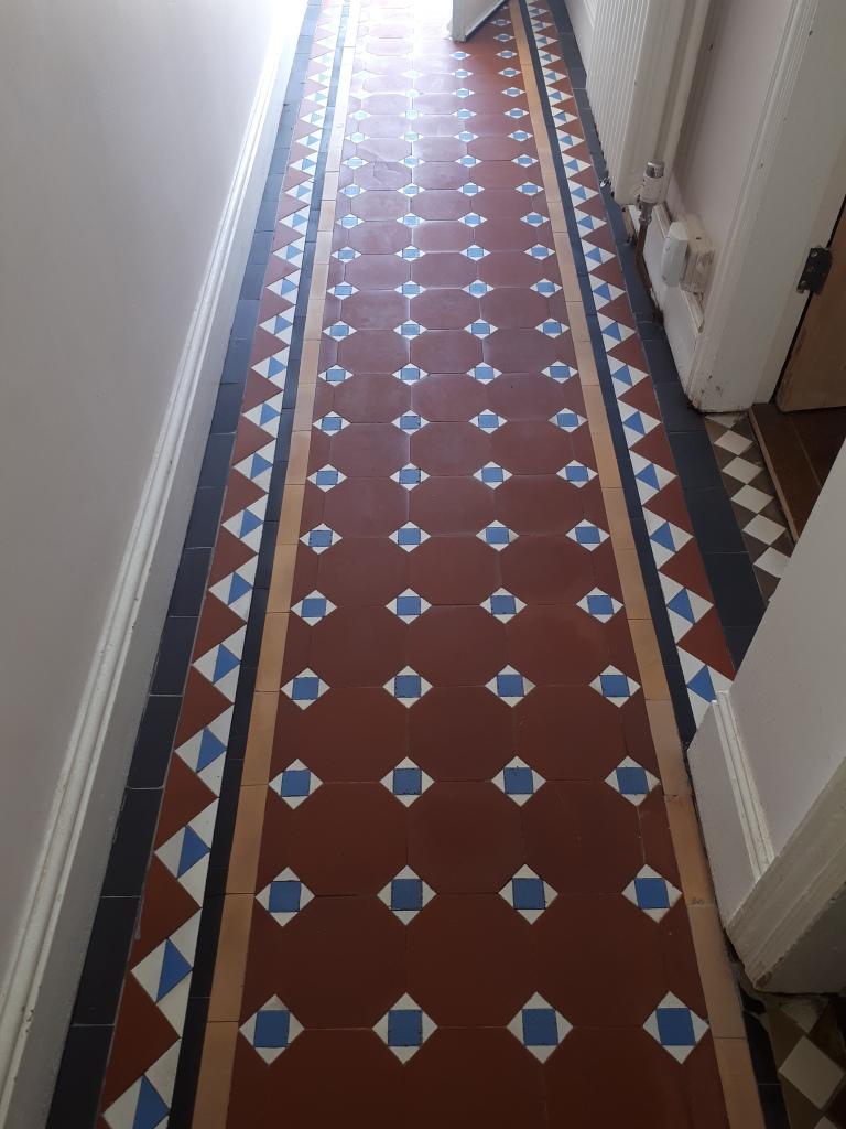 Victorian Hallway Tile Border After Cleaning Stourbridge