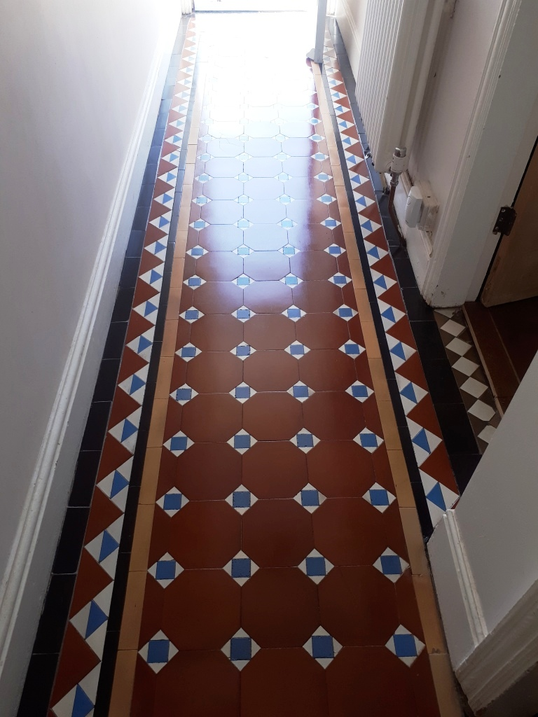 Victorian Hallway Tile Border After Replacement Stourbridge