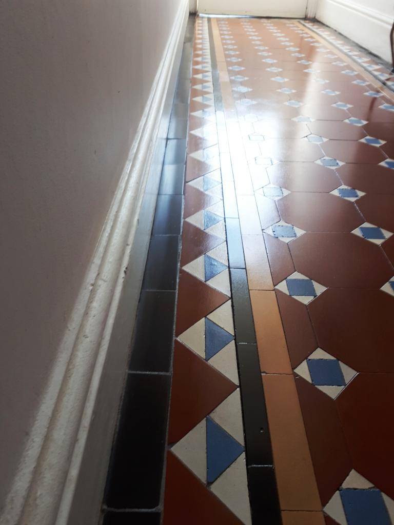 Victorian Hallway Tile Border After Replacement Stourbridge