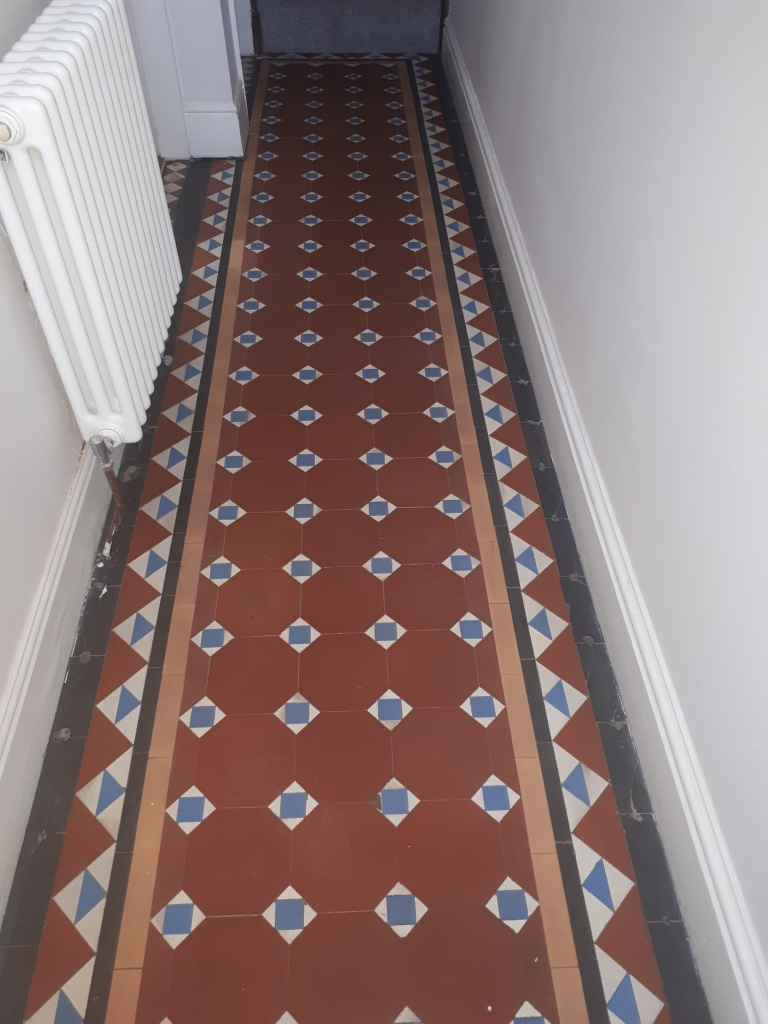 Victorian Hallway Tile Border Before Replacement Stourbridge