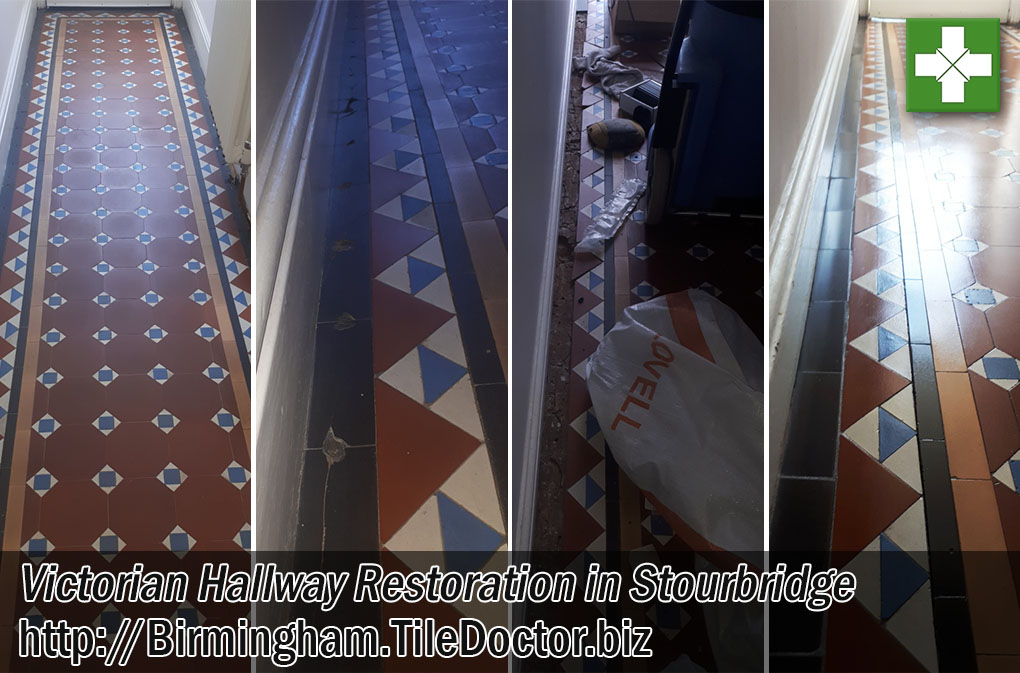 Victorian Tiled Floor Restoration Stourbridge