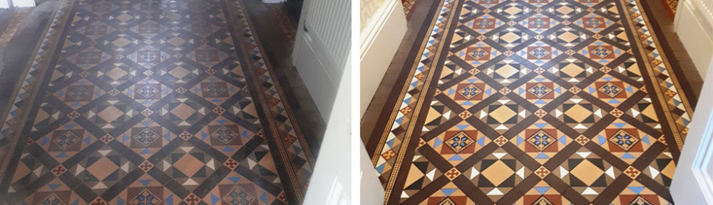 Restoring Victorian Tiled Hallway Floor in Harborne Part 2