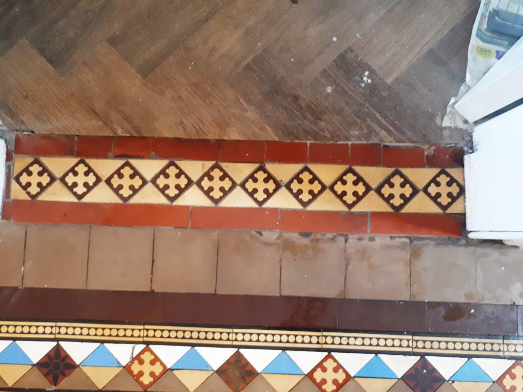 Victorian Tile Hallway After Renovation Harborne
