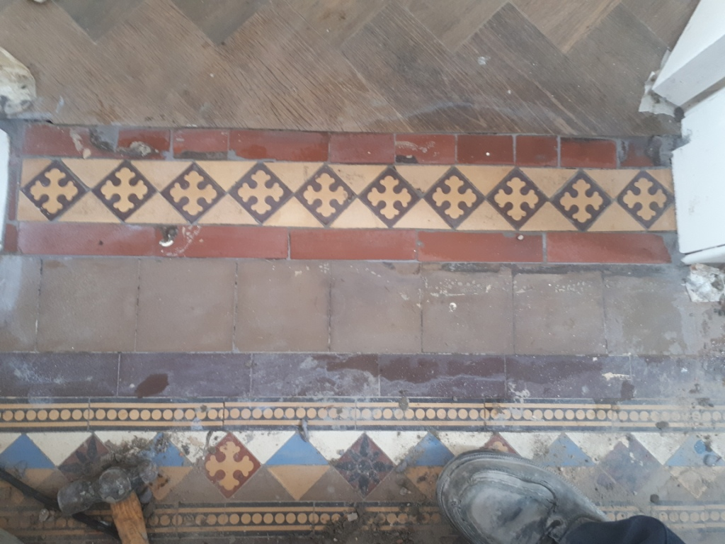 Victorian Tile Hallway During Renovation Harborne