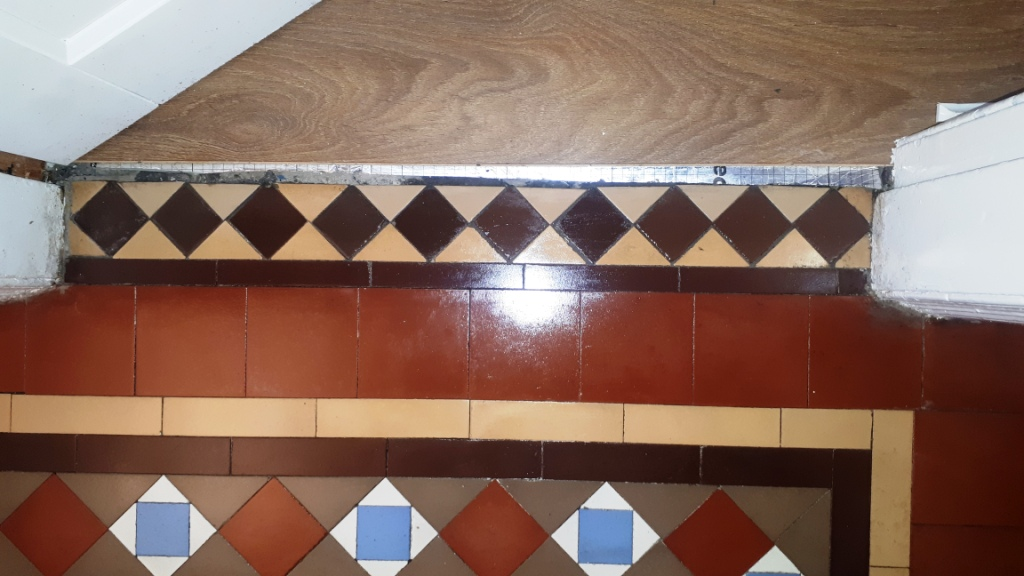 Victorian Tiled Door Threshold After Restoration Bourneville