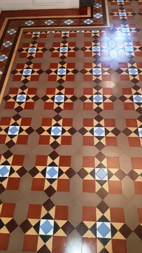 Victorian Tiled Floor After Restoration Bourneville