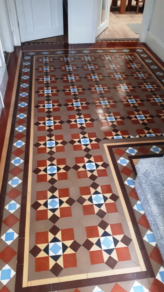 Victorian Tiled Floor After Restoration Bourneville