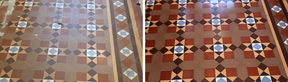 Victorian Period Hallway Floor Restored in Bourneville
