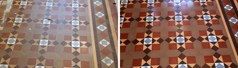 Victorian Tiled Floor Before After Restoration Bourneville