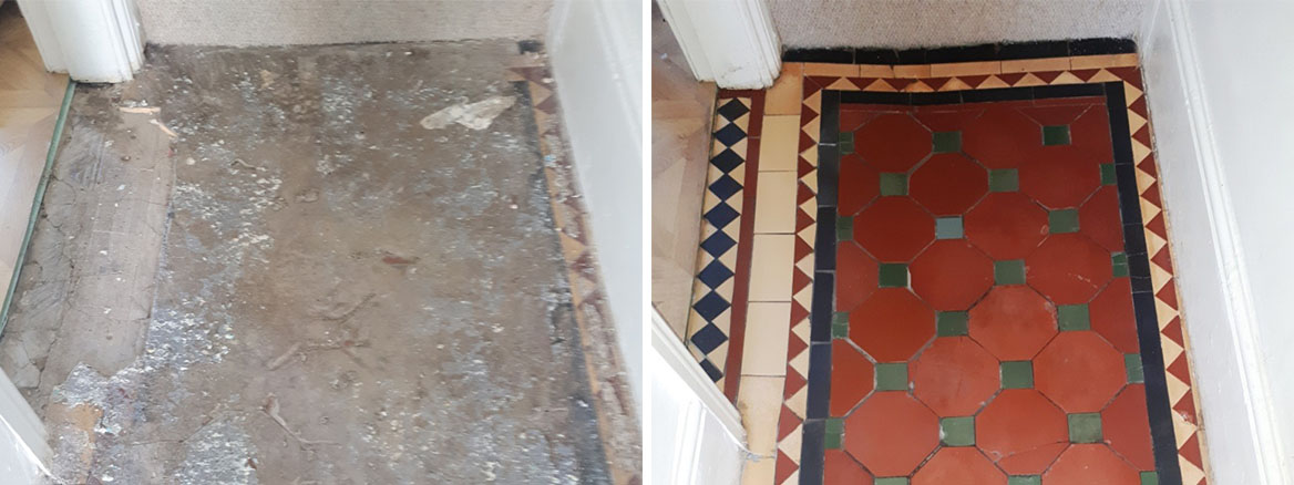 Victorian Hallway Before and After Restoration Bearwood