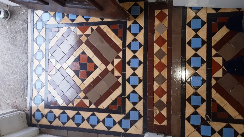 Victorian Tiled Hallway After Restoration Kings Heath