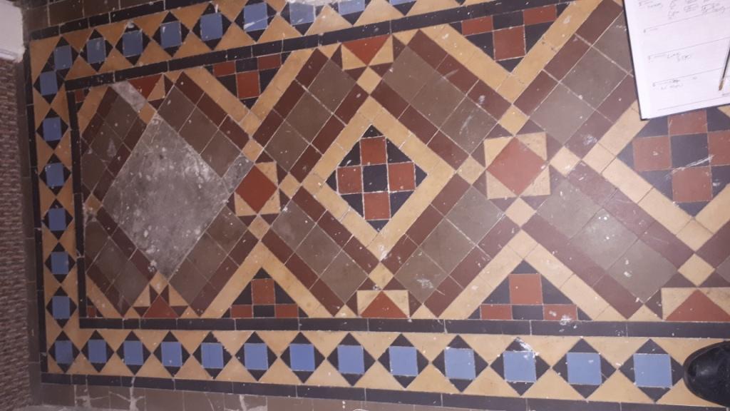 Victorian Tiled Hallway Before Restoration Kings Heath