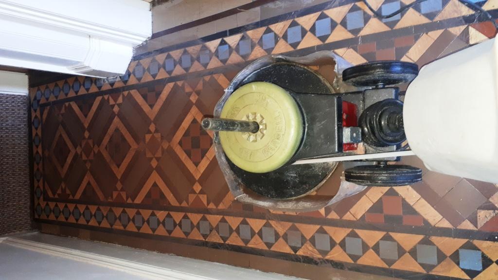 Victorian Tiled Hallway During Restoration Kings Heath