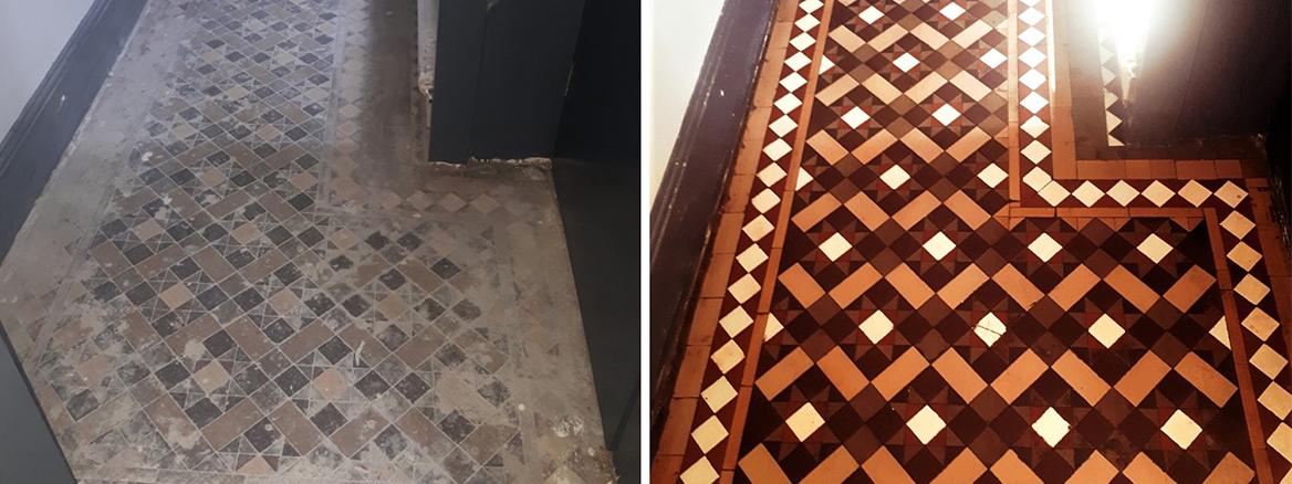 Victorian Hallway Floor Restored for Property Developer in Smethwick