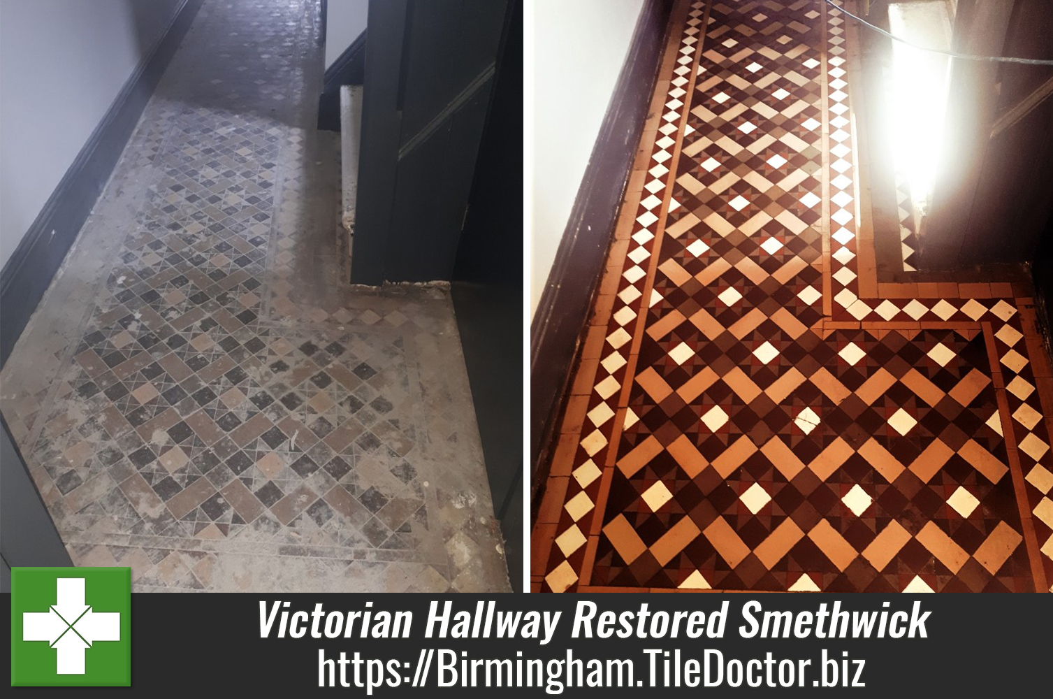 Full Victorian Hallway Floor Restoration for Property Developer in Smethwick